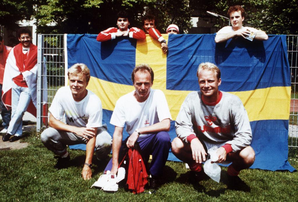 Fotboll, proffs: Jonas Thern, Sven Gšran Eriksson och Mats Magnusson, Benfica © BildbyrŒn - Dia