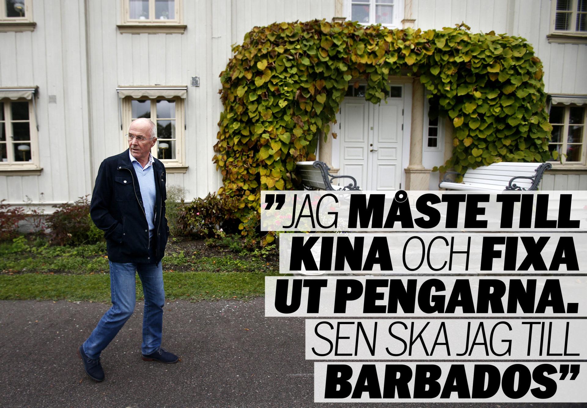 foto : foto: linn malmen /linn malmÈn : sven-göran eriksson svennis på sin herrgård utanför sunne aftonblade